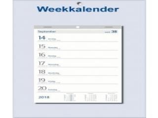 Weekkalender 2018