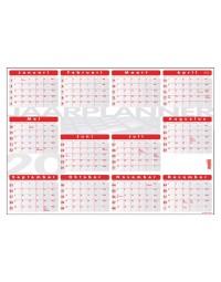 Jaarplankalender 2018 quantore 48x68cm